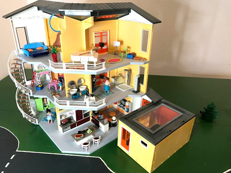 playmobil  modernes wohnhaus  einrichtung und