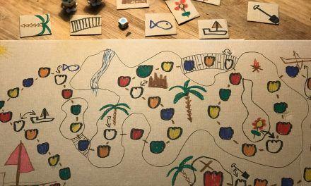 """DIY Gesellschaftsspiel """"DIE SCHATZSUCHE"""" mit Farbwürfel für die ganze Familie"""