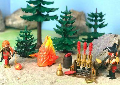 70227 Feuergeist und Hüterin des Feuers & Feuerwerkskanonen