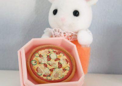 Marshmallow Baby mit Pizza