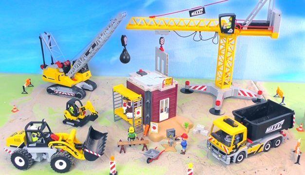 Playmobil Grossbaustelle – Bagger, Kran & Truck
