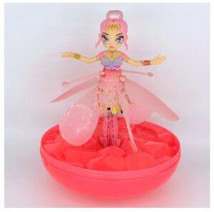 Die Crystal Flyers Fee ausgepackt in Pink. Gleich geht es los zum Flug